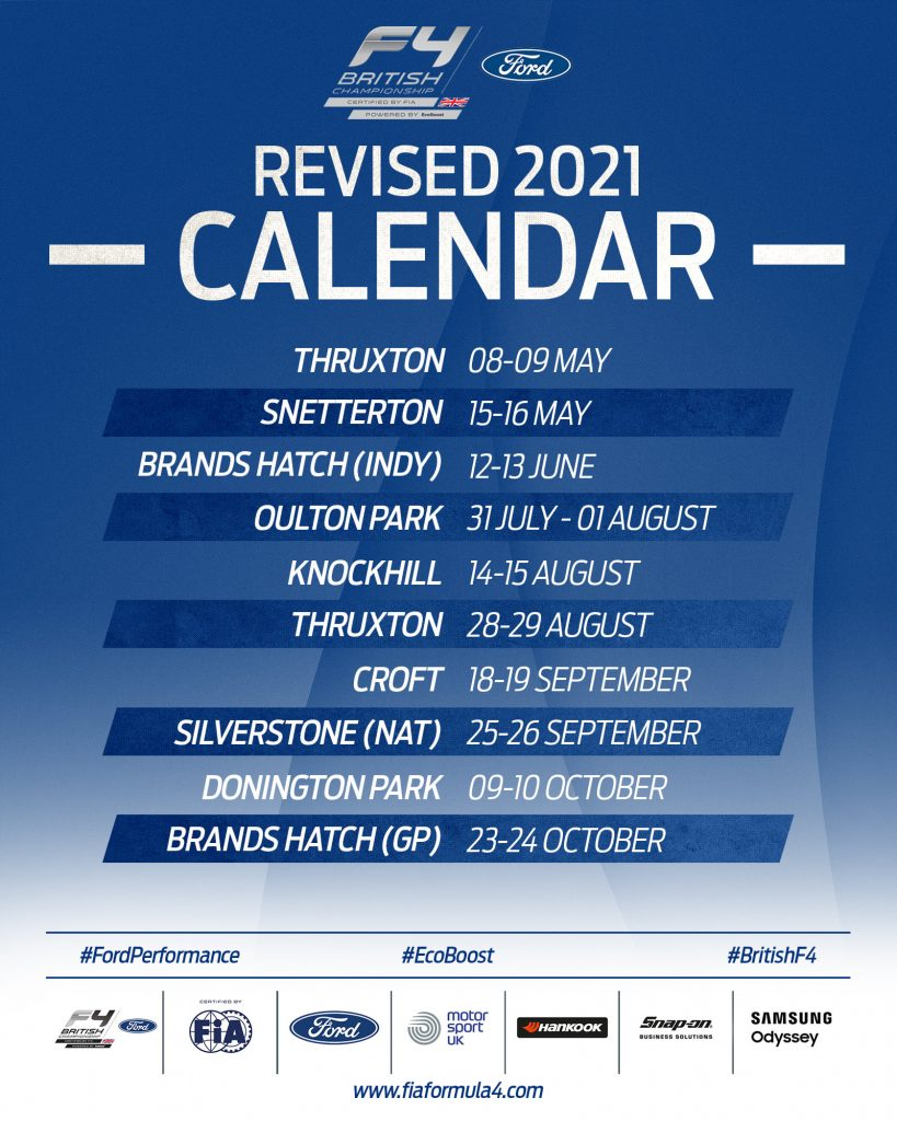 2021 F4 Calendar